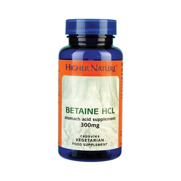 Jar of betaine HCl